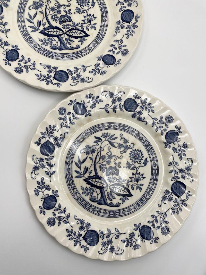 assiette anglaise bleue