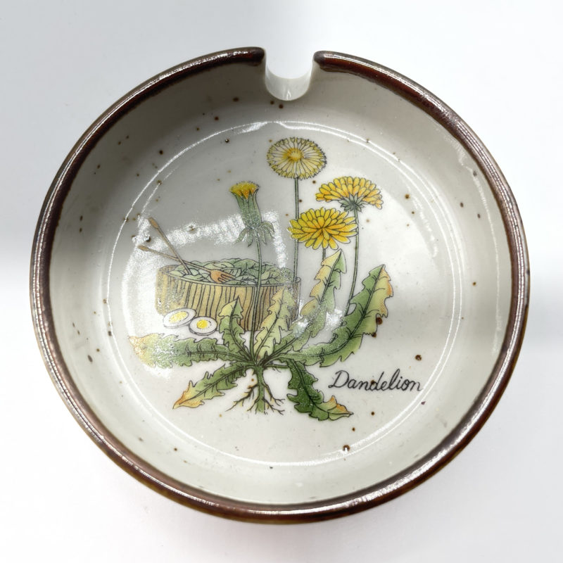 cendrier fleurs vintage