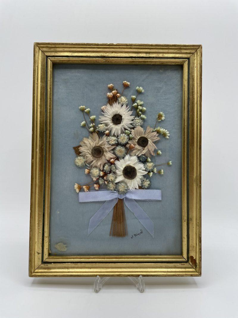 cadre fleurs sechees