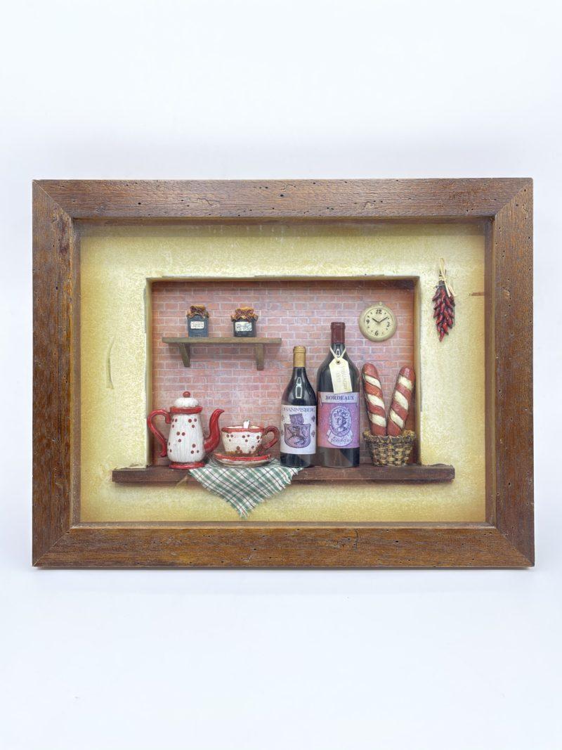 cadre relief vintage bois