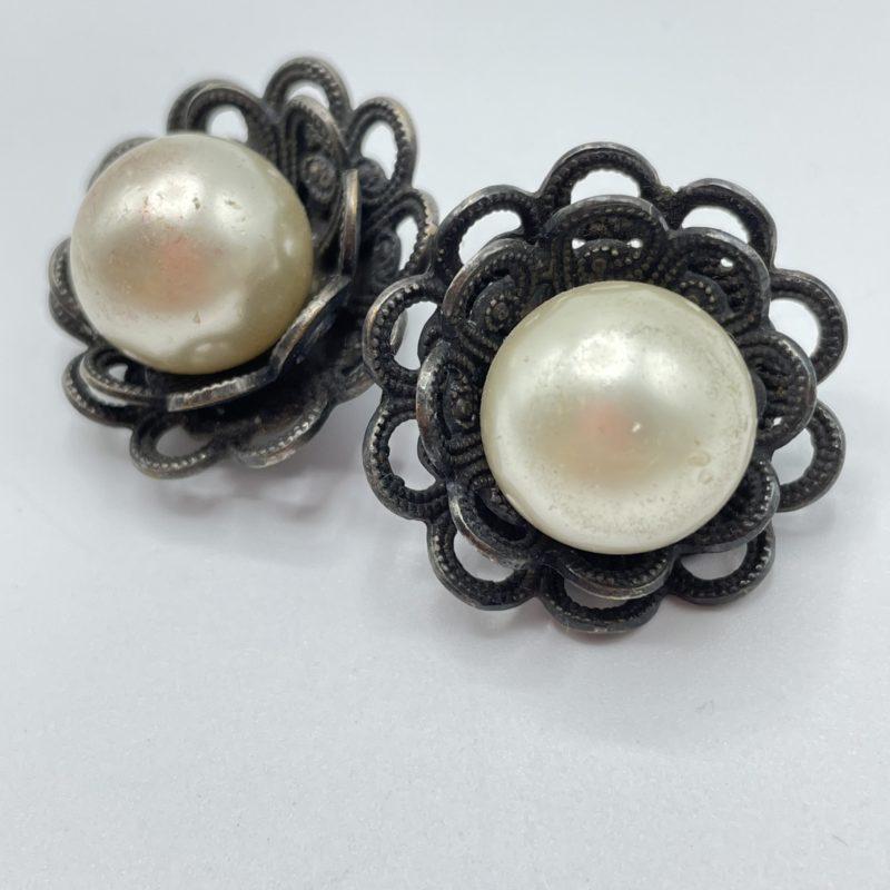 boucles oreille perle vintage