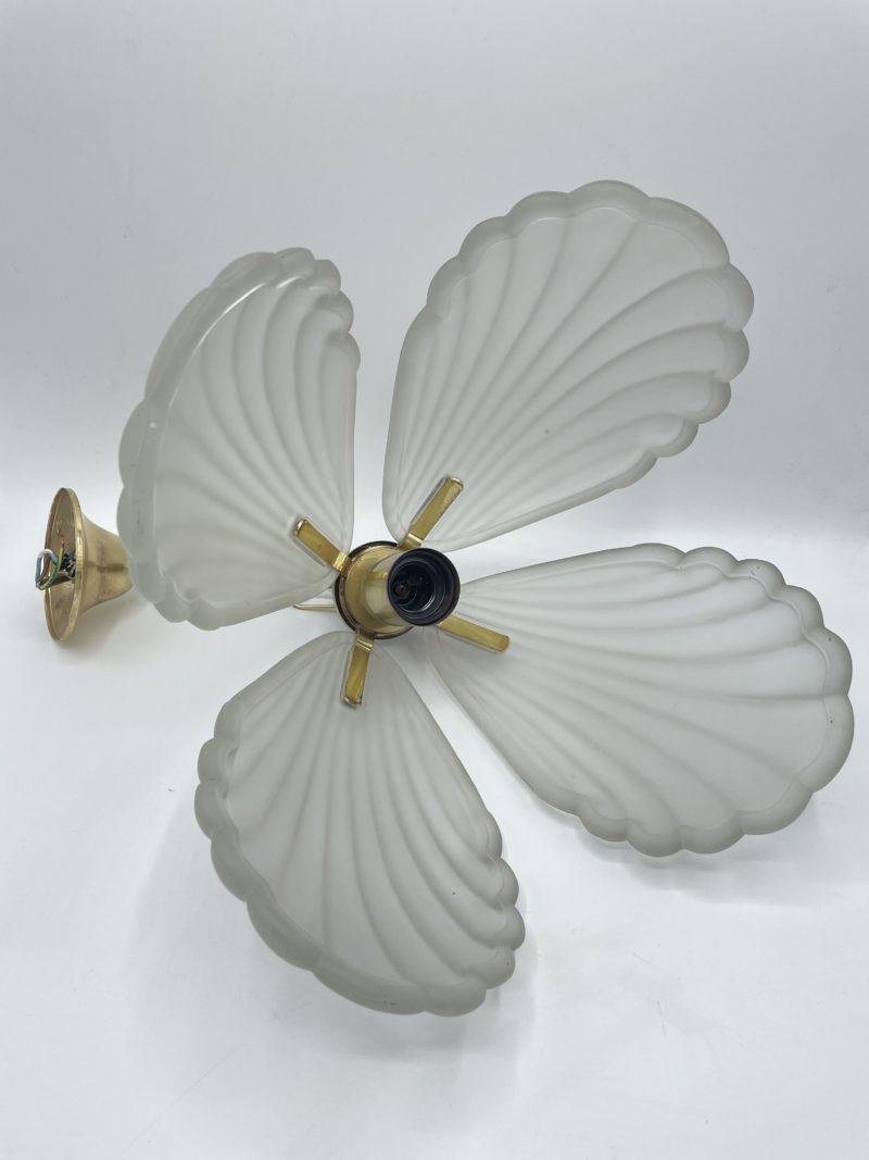 lustre plafonnier coquillage art deco