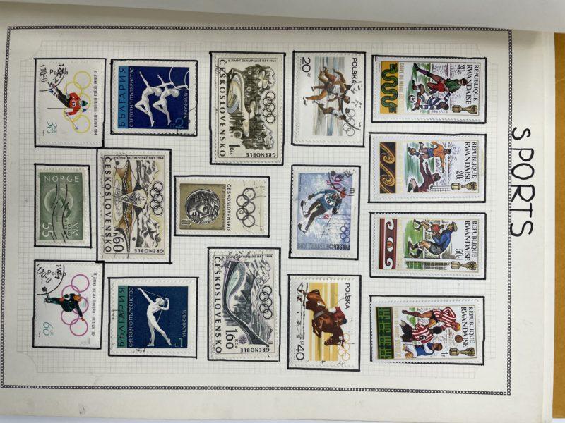 albulm timbre collection timbres vintage