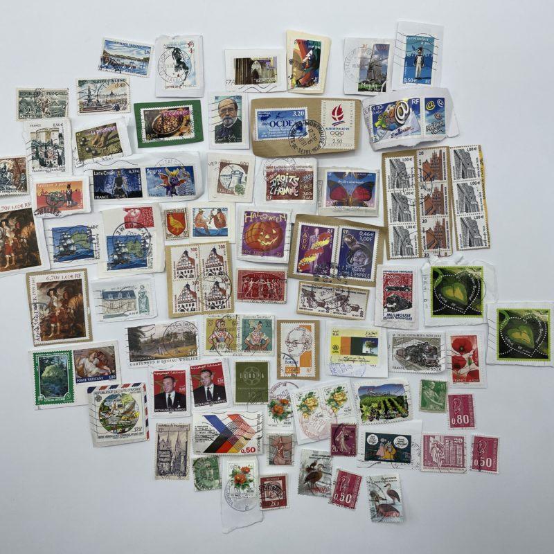 collection timbre philatelie vintage