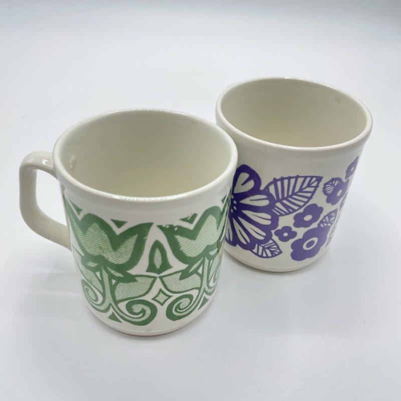mug anglais vintage 70