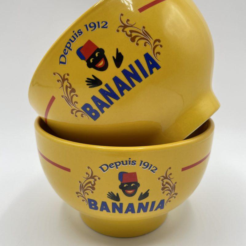 bol banania jaune vintage