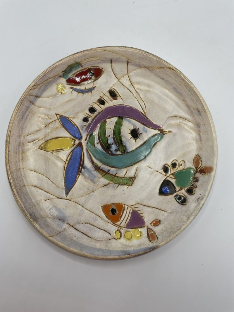 assiette ceramique poisson espagne