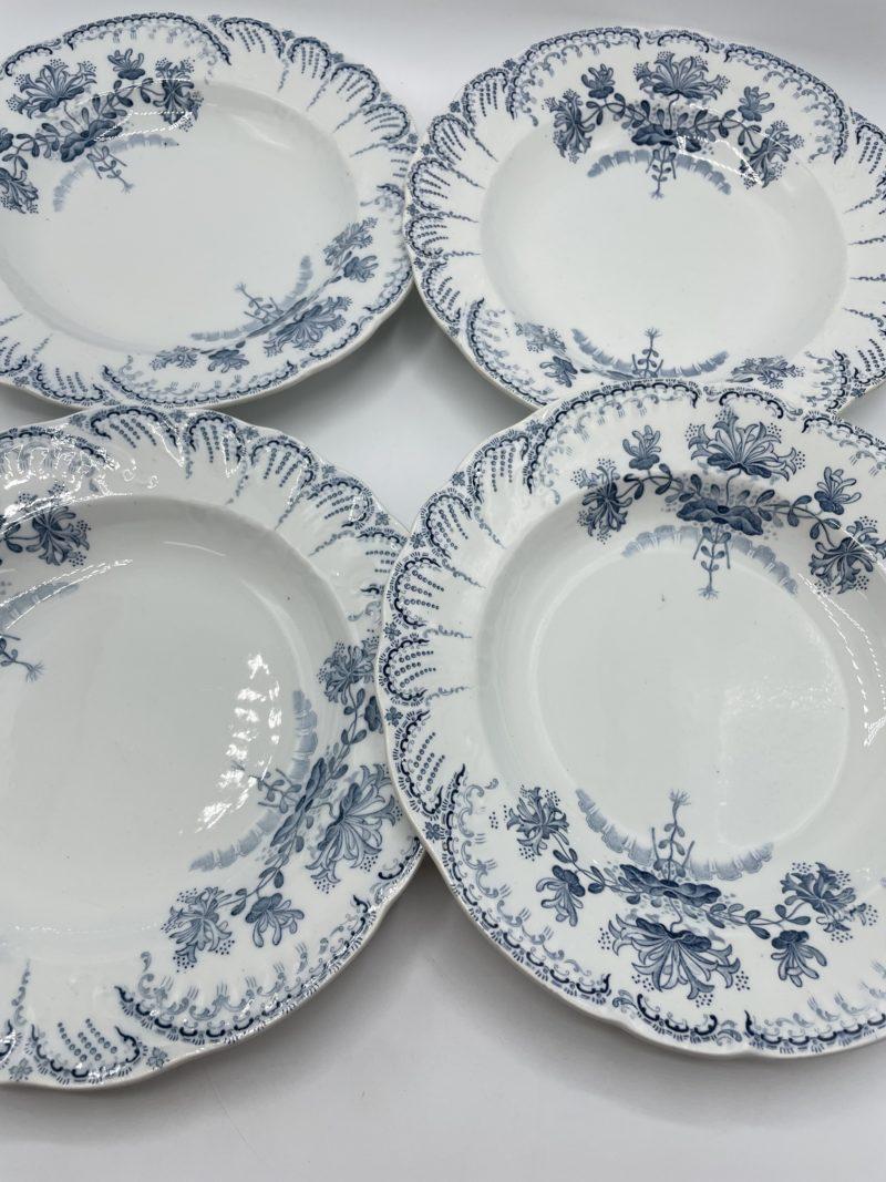 assiette vintage bleu terre de fer saint amand hamage