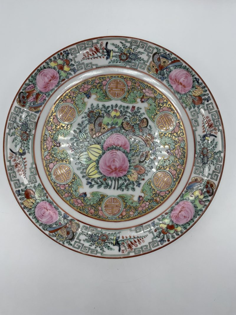 assiette porcelaine chine hong kong vintage