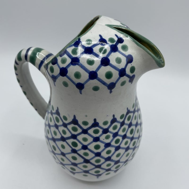 broc oriental ceramique bleu vert