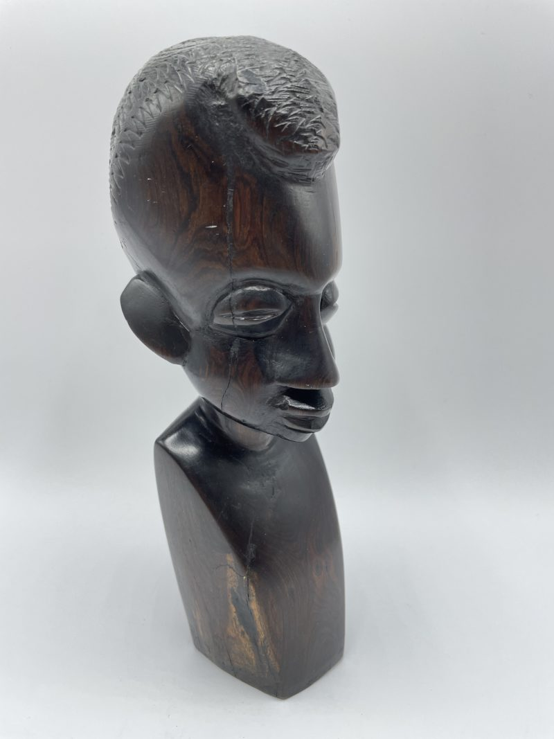 statue buste ebene afrique