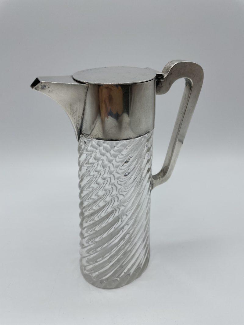 carafe cristal monture argent plaque