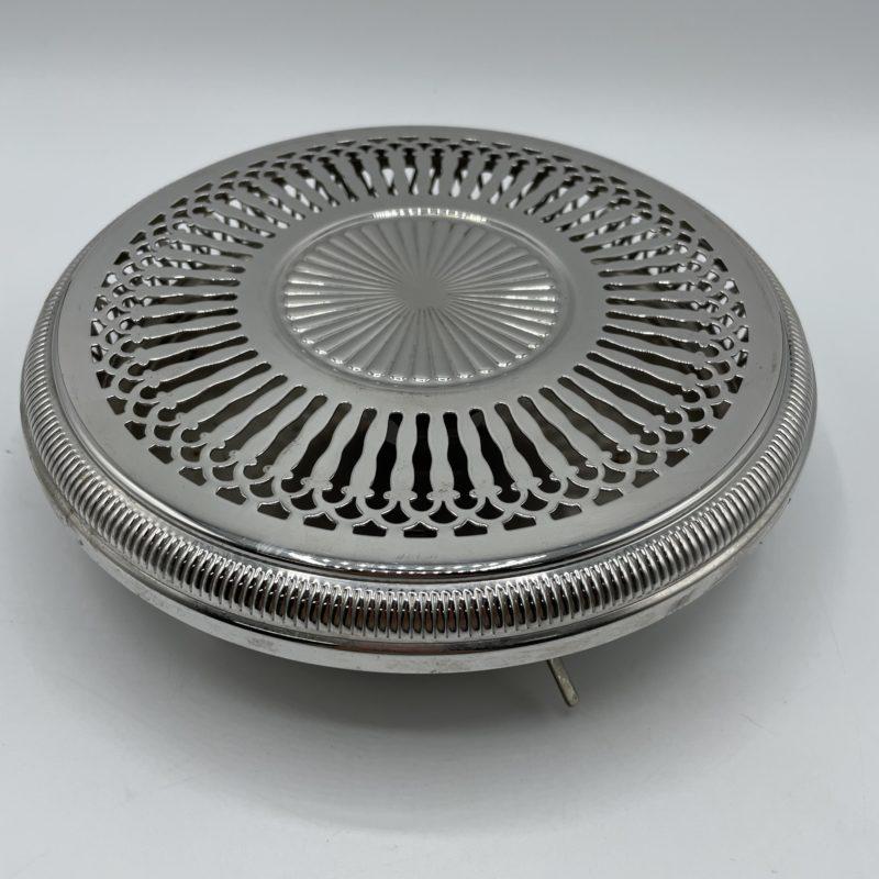 chauffe plat metal vintage