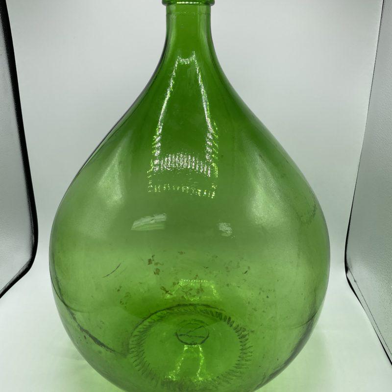 dame jeanne vert deco vintage verre