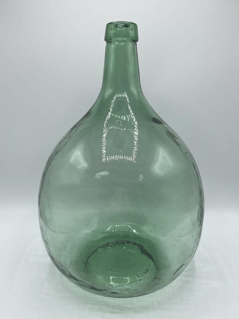 dame jeanne vintage vert verre deco