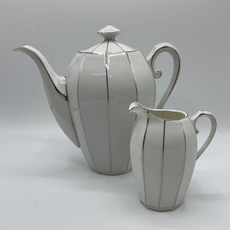 theiere vintage art deco porcelaine