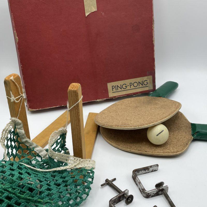 set jeux pingpong vintage retro game