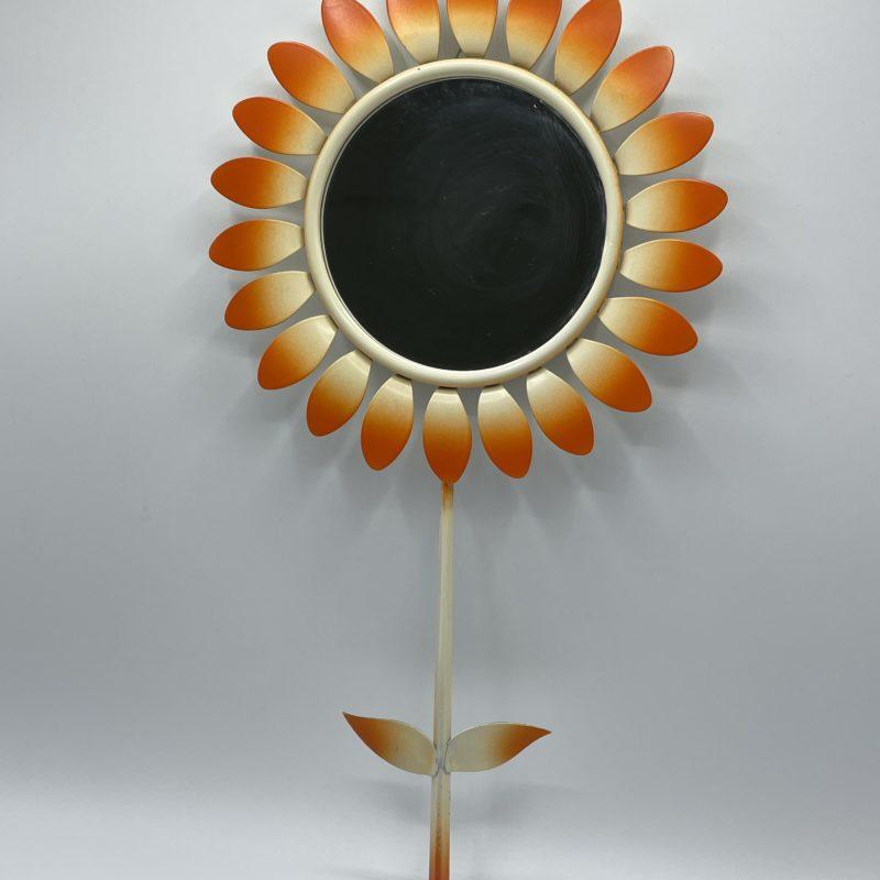 miroir fleur vintage orange