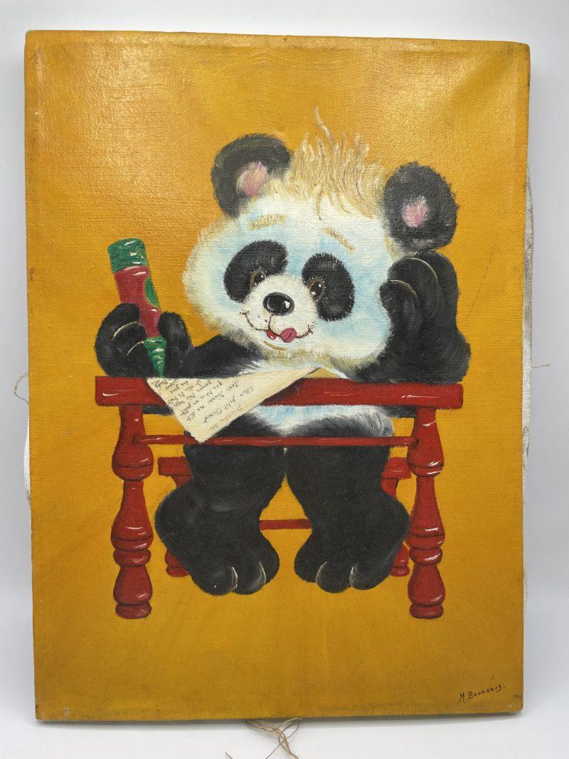 peinture enfant panda