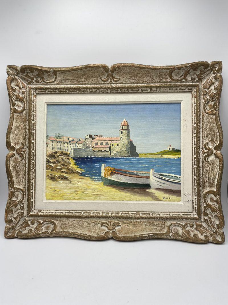 peinture huile paysage mer collioure deco