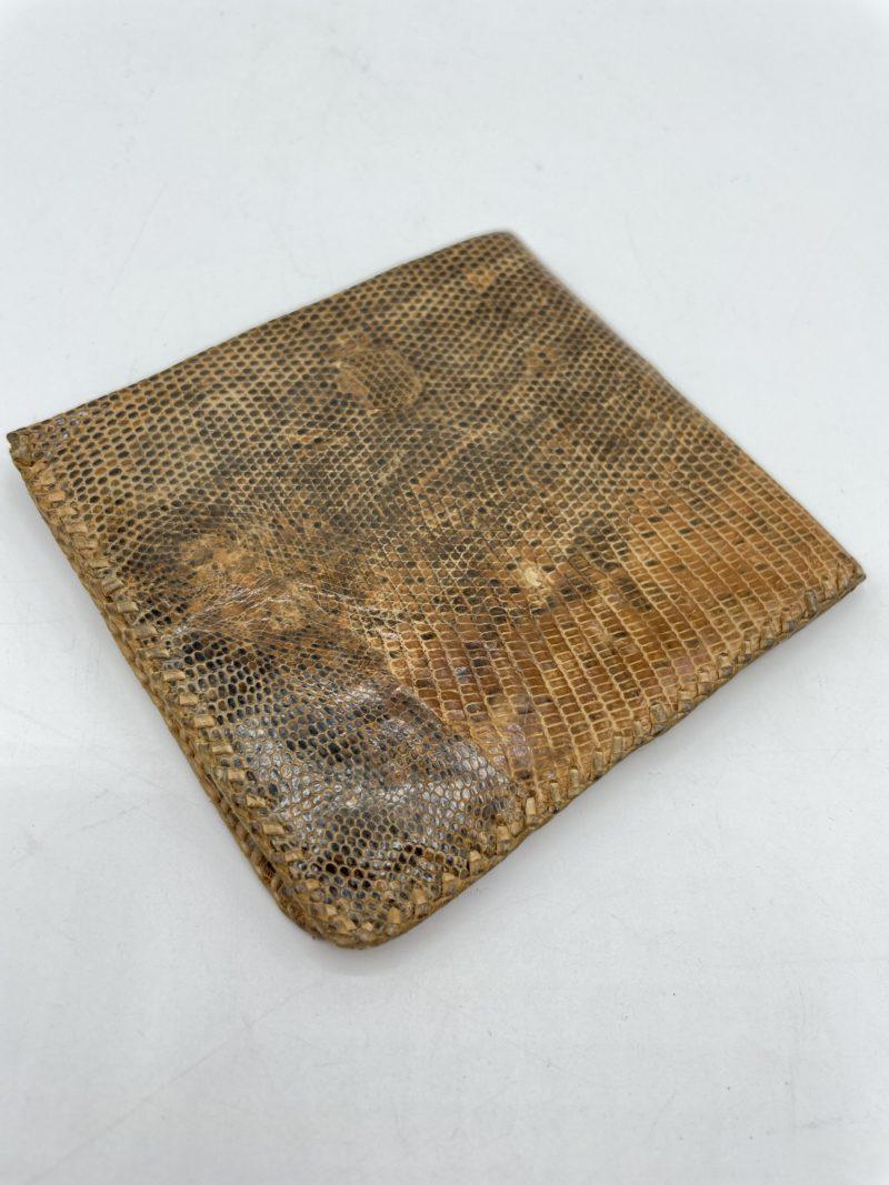 porte monnaie cuir serpent vintage