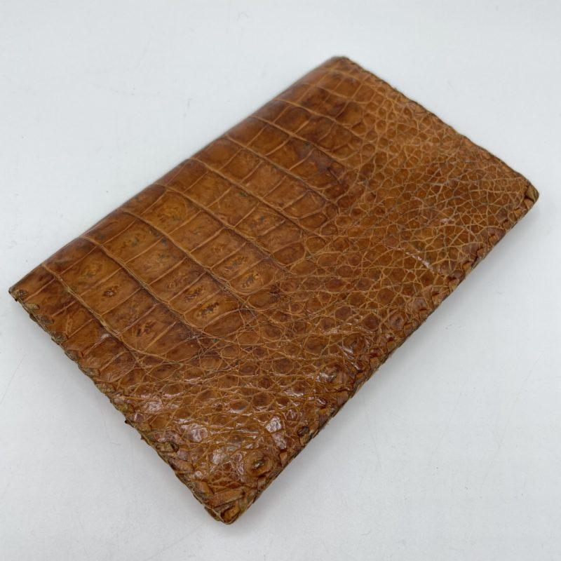 portefeuille cuir crocodile vintage
