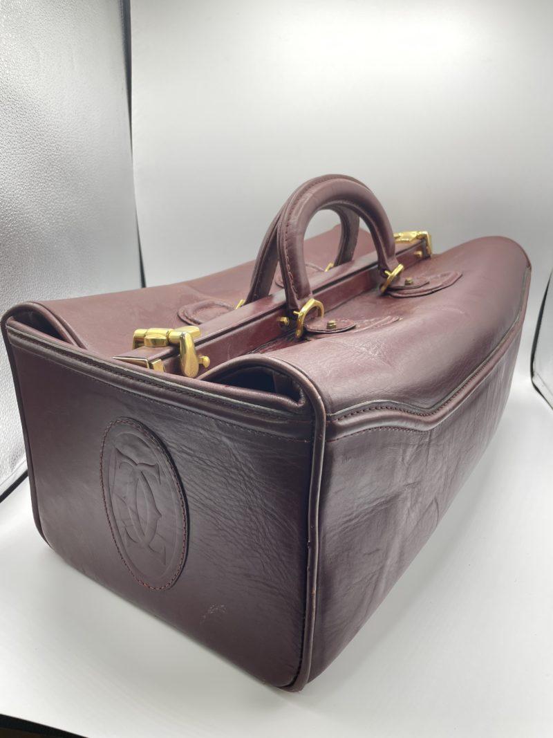 sac voyage cartier cuir vintage