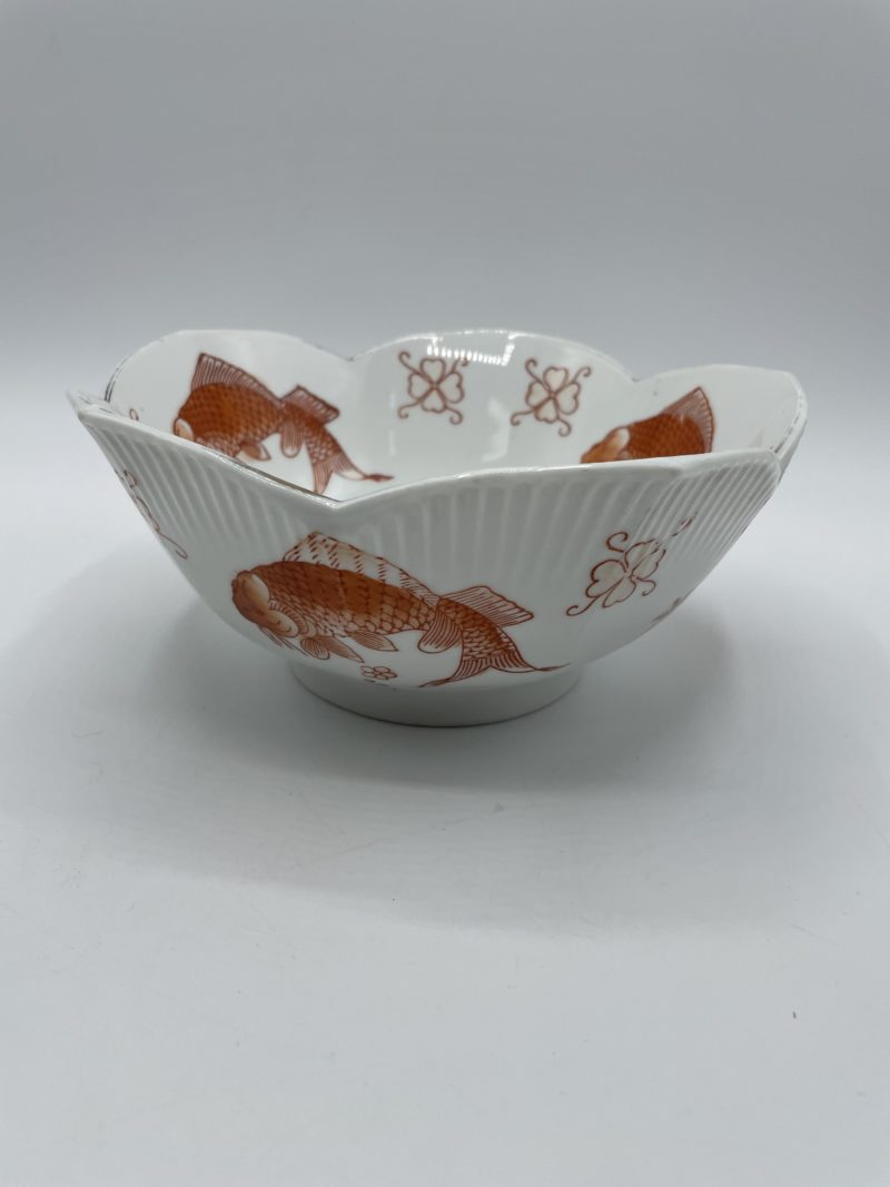 saladier porcelaine chine carpe koi