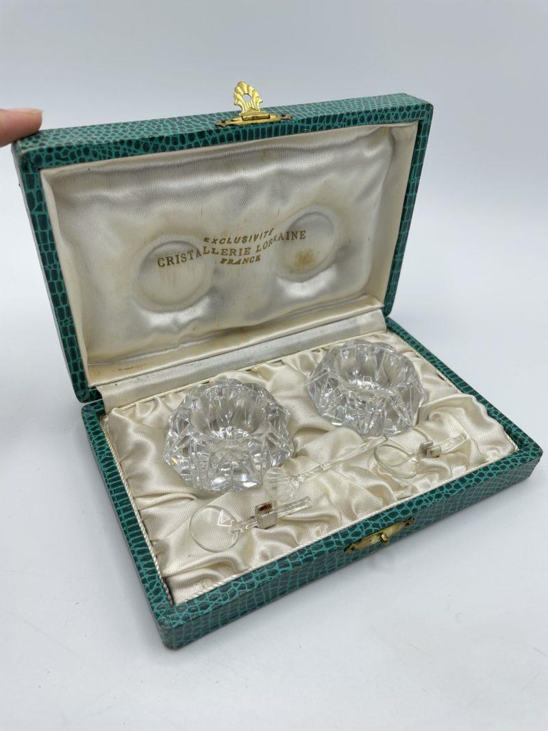 salerons cristal vintage cristallerie lorraine