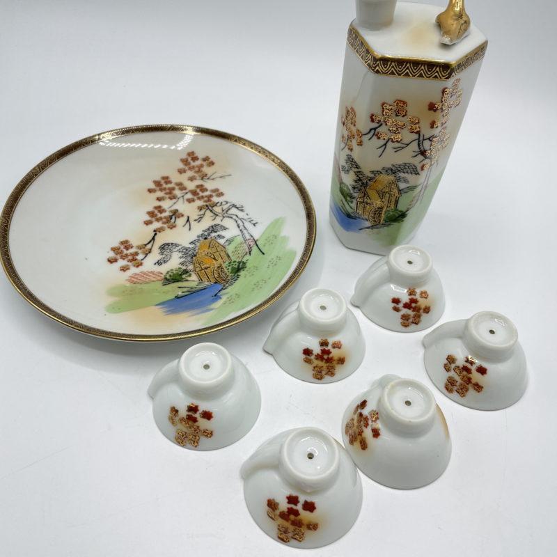 service sake porcelaine kutani