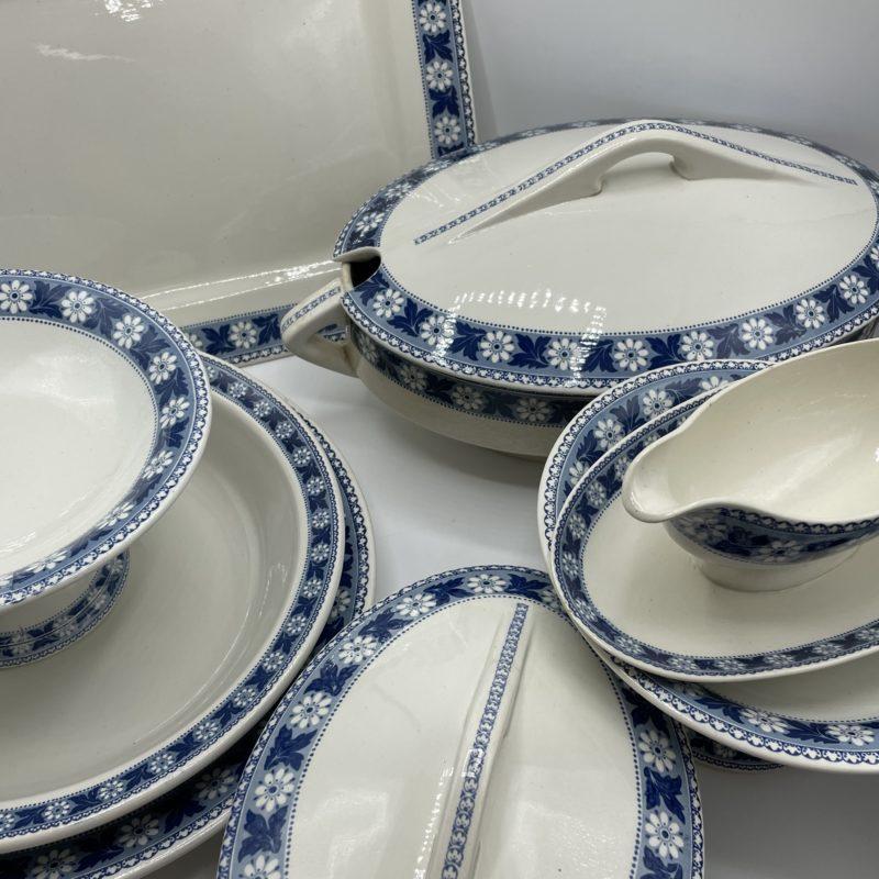 service sarreguemines decor nancy vintage porcelaine