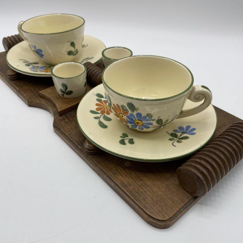 set petit dejeuner plateau tasse