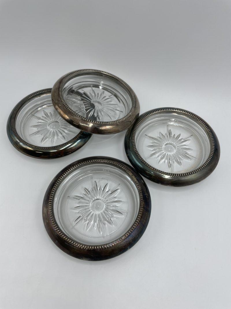 sos verre leonard silverplate vintage metal