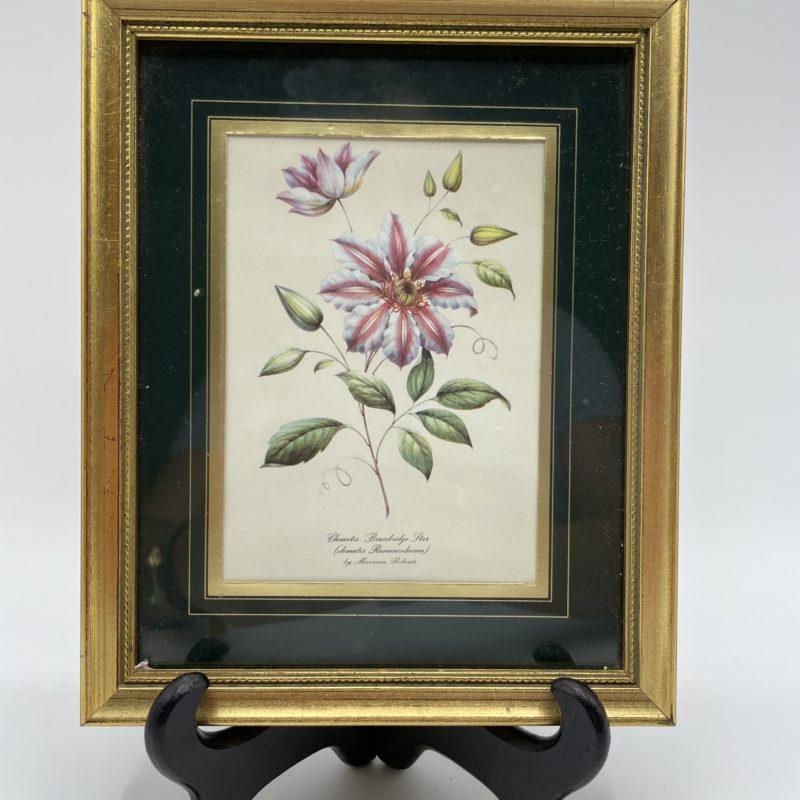 tableau peinture fleur botanique cadre