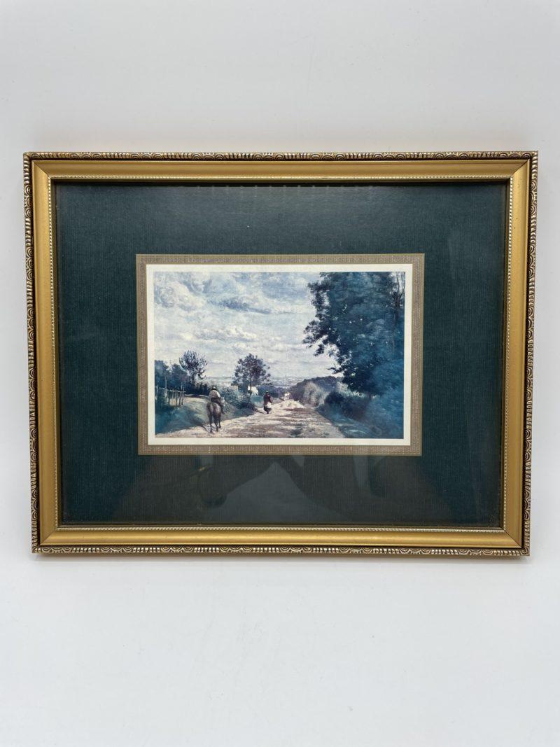 tableau peinture reproduction cadre champetre