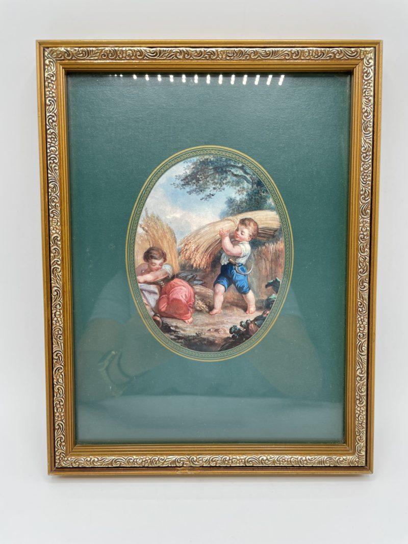 tableau cadre cherubin champetre retro vintage