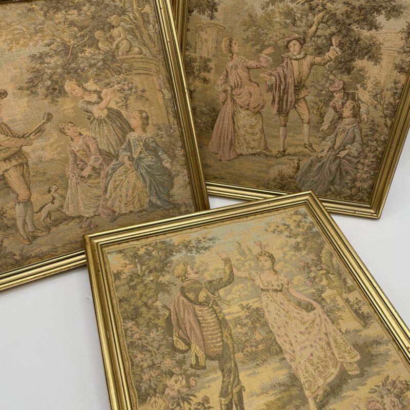 tapisserie ancienne cadre vintage tableau