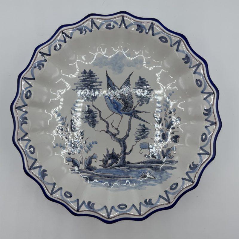assiette bleue vintage faience montagnon