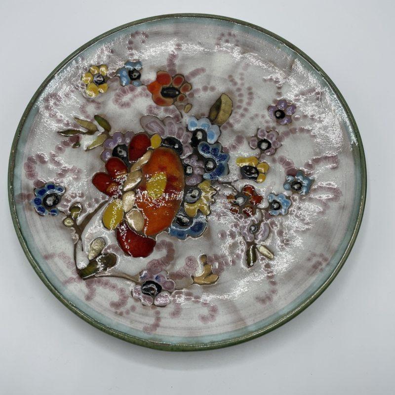 assiette ceramique email vallauris vintage