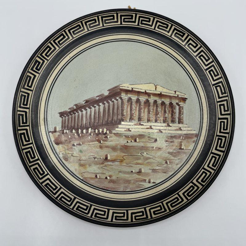 assiette decorative athene grece