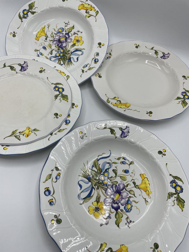 assiettes depareillees vintage villeroy boch