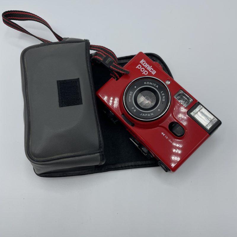 boitier photo vintage retro konica pop rouge