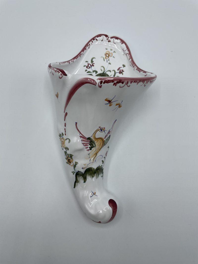 bouquetiere corne abondance moustier mufraggi vintage vase
