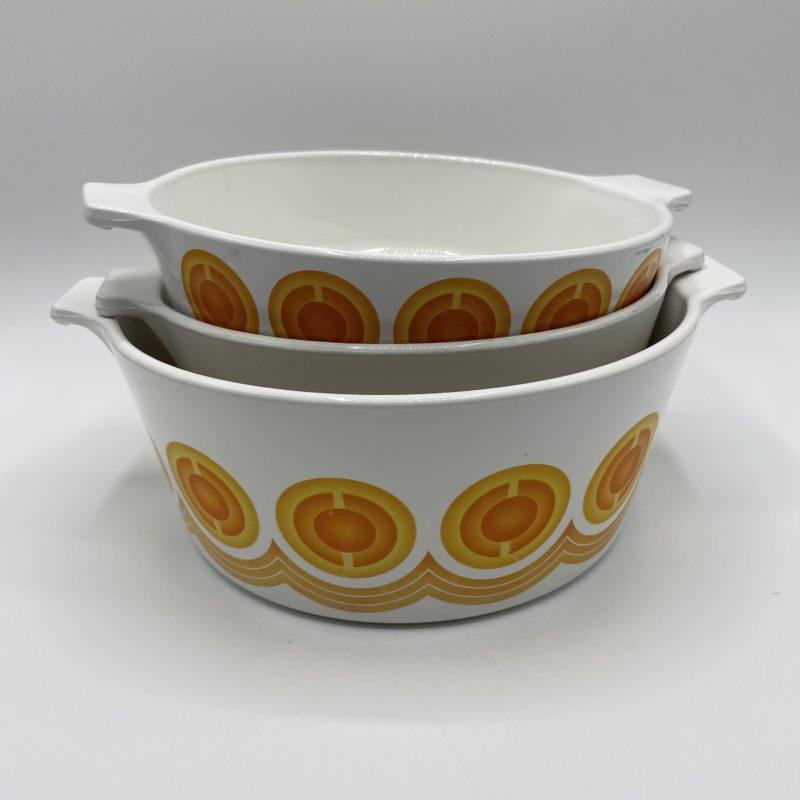 cocotte vintage pyroflam netherlands orange vaisselle vintage