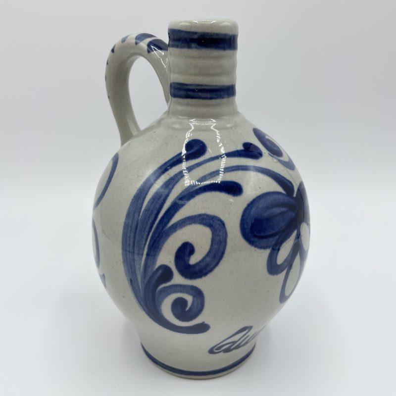 carafe gres vernisse vintage bleu