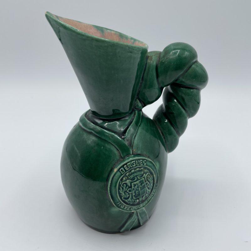 cruche carafe ceramique vert vintage