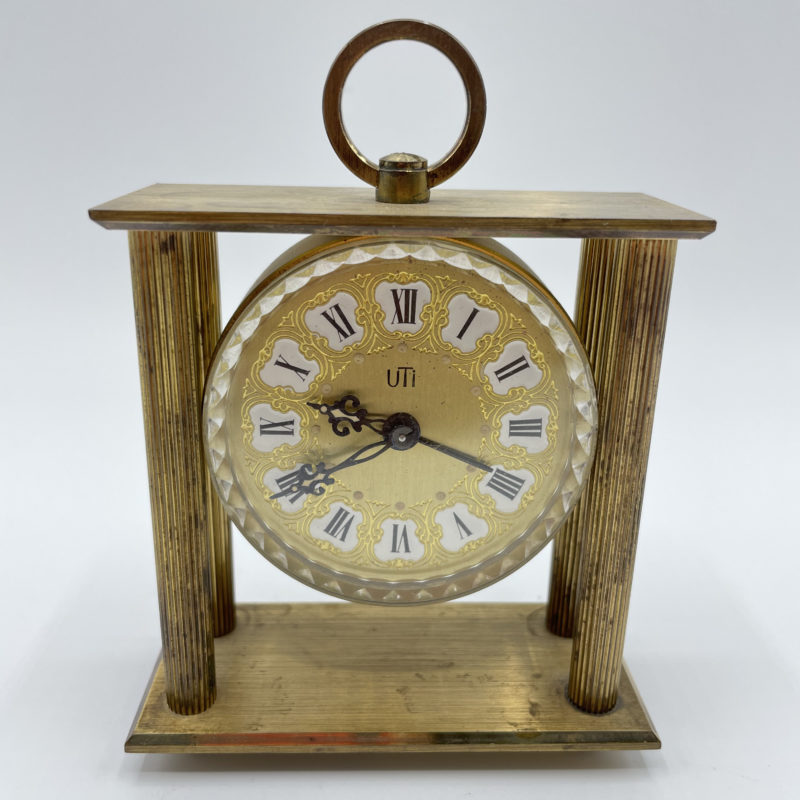 horloge ancienne pendule uti 1960 colonnes
