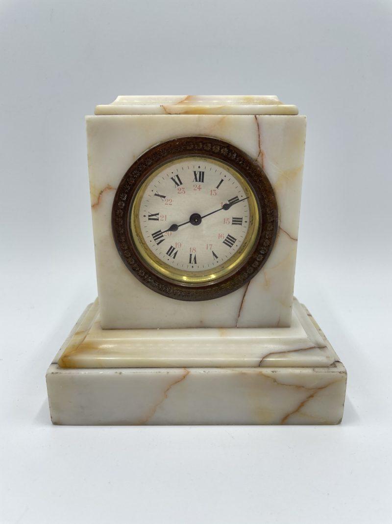 horloge pendule ancien vintage marbre cheminee