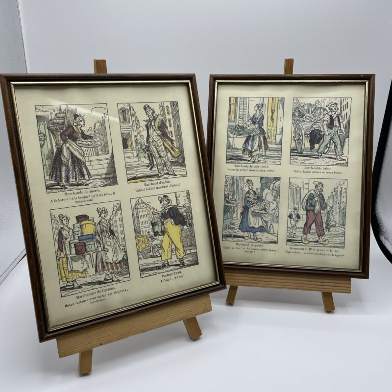 illustration cris paris tableau cadre deco vintage collection