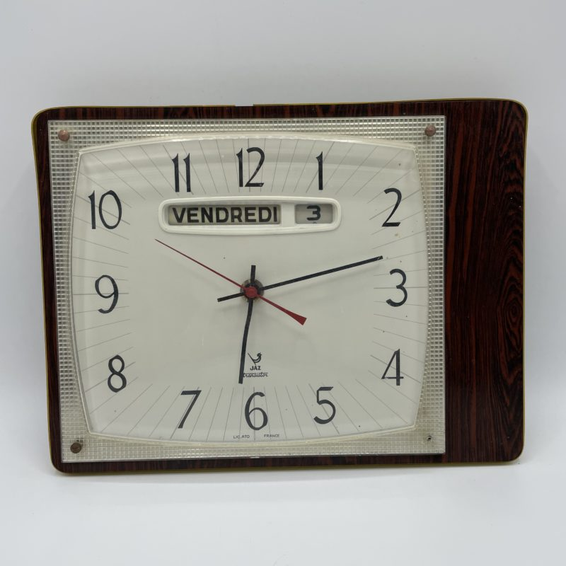 horloge murale ancienne calendrier jaz transistor